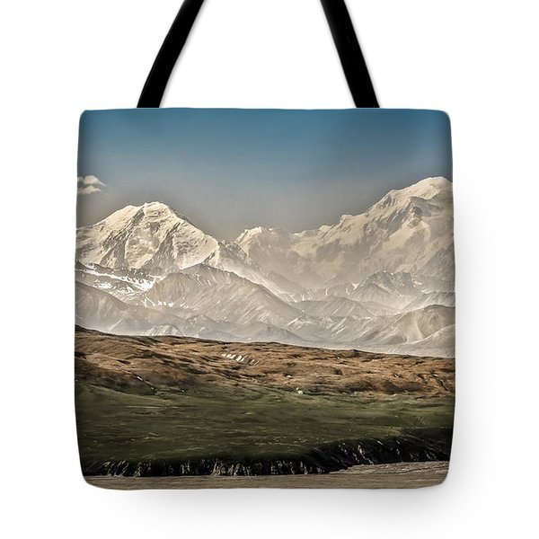 Majestic Mount Mckinley Tote Bag by Penny Lisowski