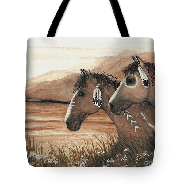 Majestic Mustang Series 42 Tote Bag by AmyLyn Bihrle