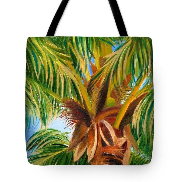 Majestic Palm Tote Bag by Shelia Kempf