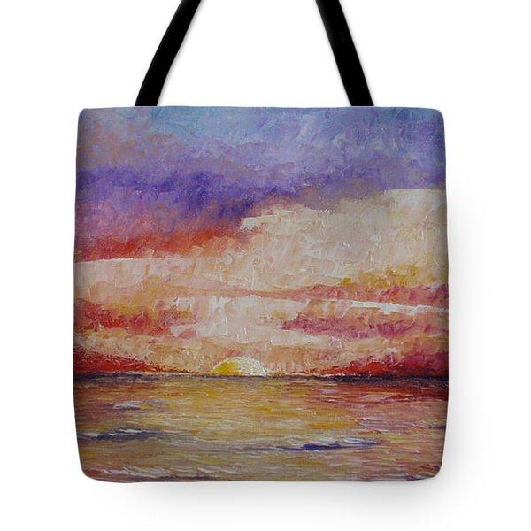 Majestic Sunset  Tote Bag by Tatjana Popovska