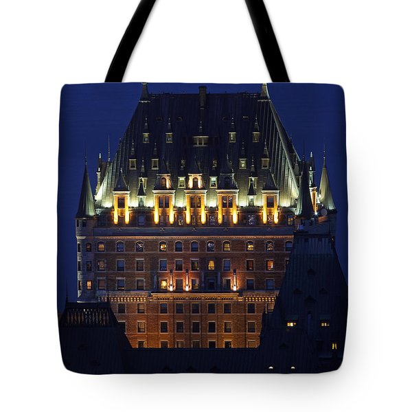 Majesty Of Chateau Frontenac In Quebec City Tote Bag by Juergen Roth