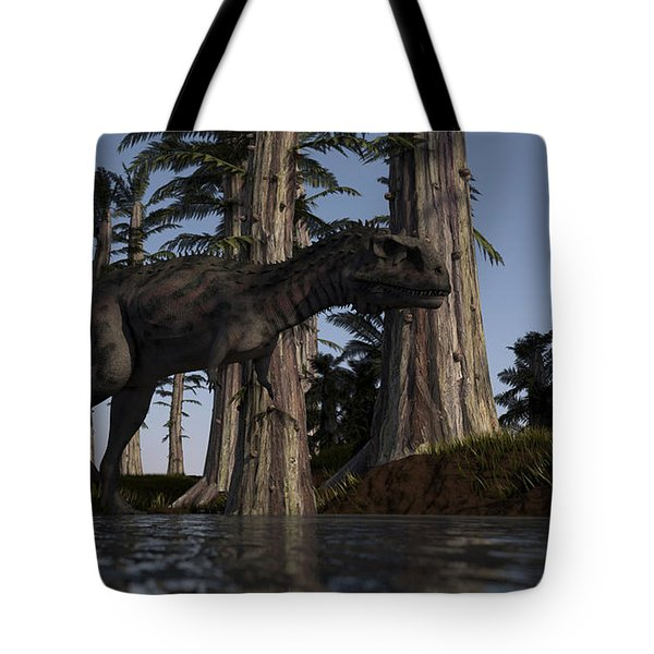 Majungasaurus Hunting For Food Tote Bag by Kostyantyn Ivanyshen