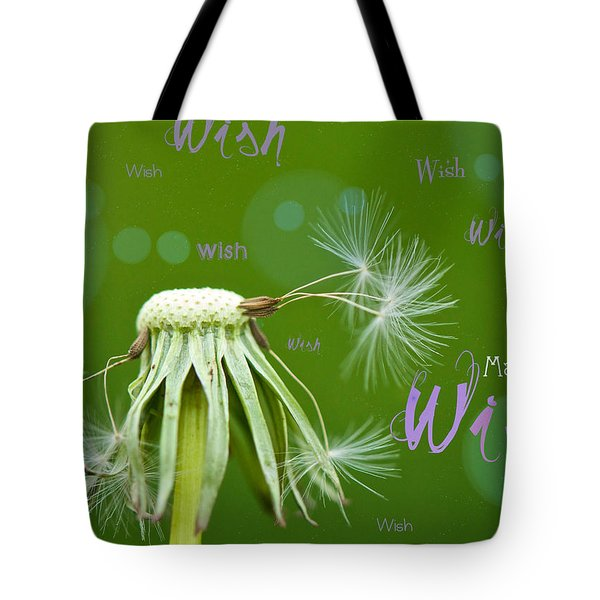 Make A Wish Card Tote Bag by Lisa Knechtel