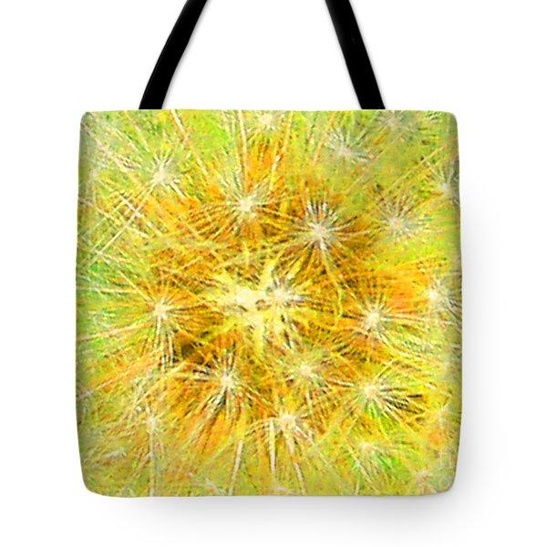 Make A Wish In Greenish Yellow Tote Bag by Jennifer E Doll