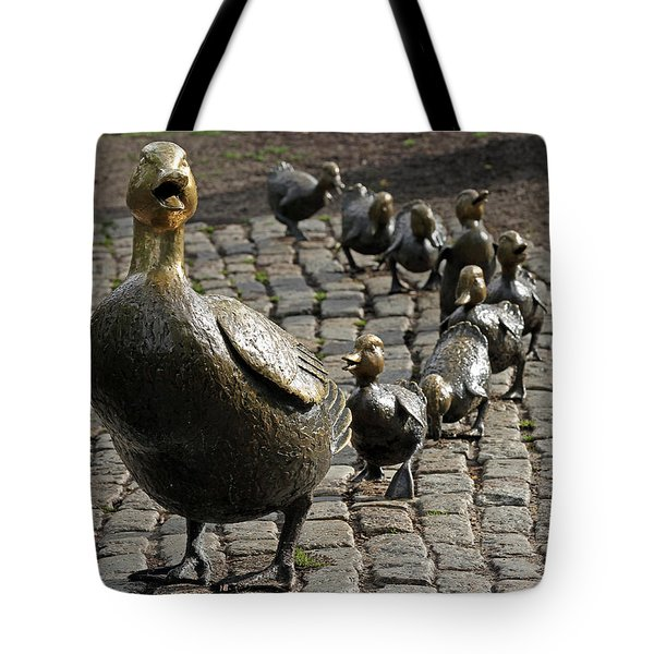 Make Way For Ducklings Tote Bag by Juergen Roth