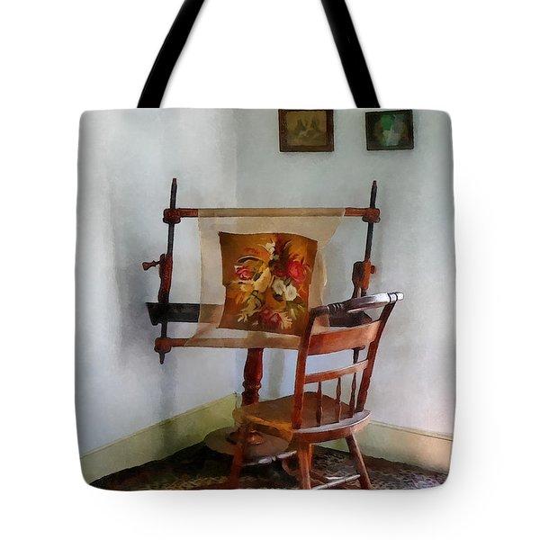 Making A Tapestry Tote Bag by Susan Savad