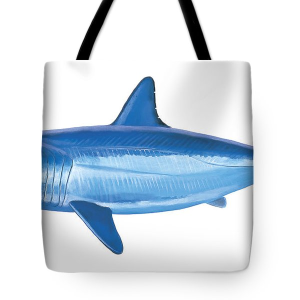 Mako Shark Tote Bag by Carey Chen