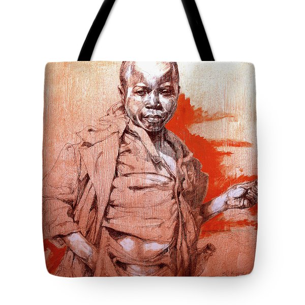 Malawi Child Sketch Tote Bag by Derrick Higgins