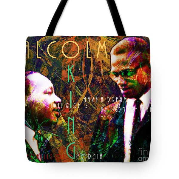Malcolm and The King 20140205 with text Tote Bag by Wingsdomain Art and Photography