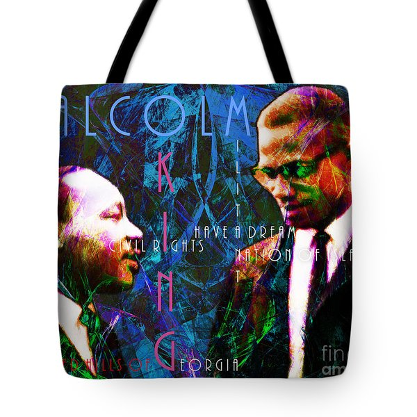 Malcolm and The King 20140205p180 with text Tote Bag by Wingsdomain Art and Photography