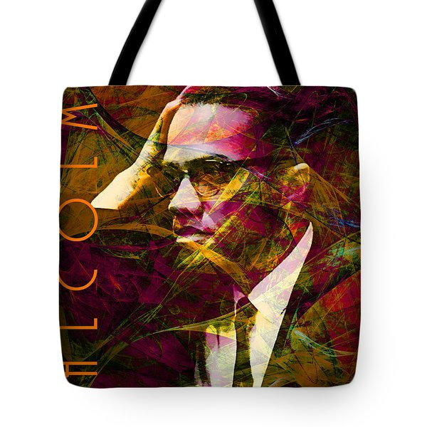 Malcolm X 20140105 With Text Tote Bag by Wingsdomain Art and Photography