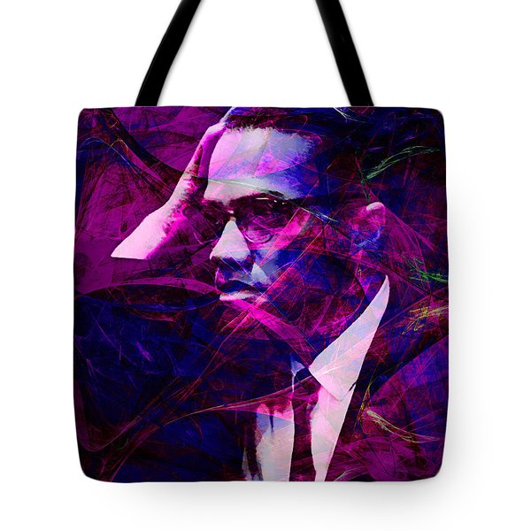 Malcolm X 20140105m88 Tote Bag by Wingsdomain Art and Photography