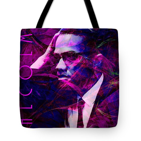 Malcolm X 20140105m88 with text Tote Bag by Wingsdomain Art and Photography