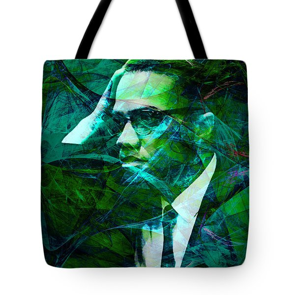 Malcolm X 20140105p138 Tote Bag by Wingsdomain Art and Photography