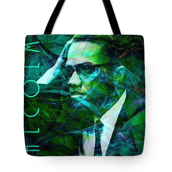 Malcolm X 20140105p138 with text Tote Bag by Wingsdomain Art and Photography