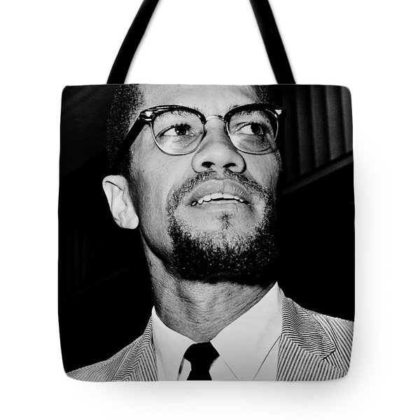 Malcolm X Tote Bag by Benjamin Yeager