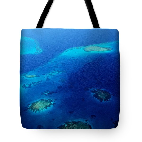 Maldivian Reefs. Aerial Journey Over Maldivian Archipelago Tote Bag by Jenny Rainbow