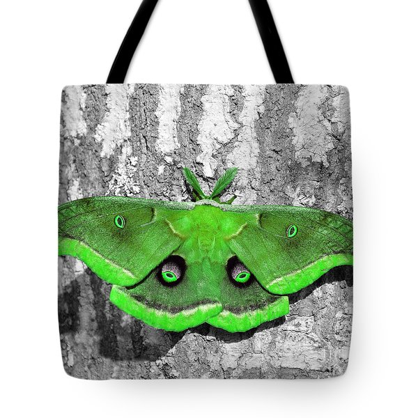 Male Moth Green Tote Bag by Al Powell Photography USA
