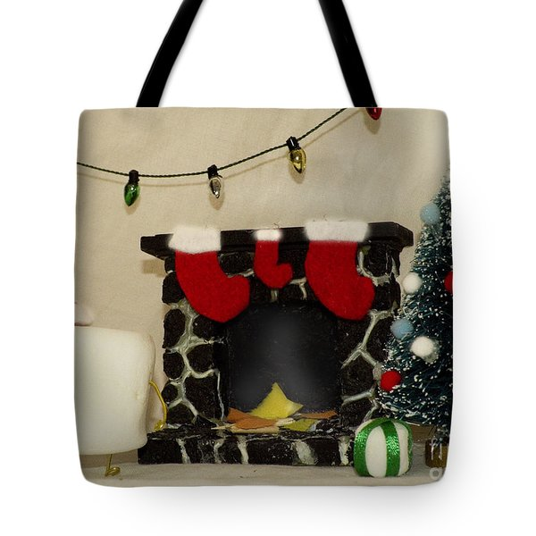 Mallow Christmas Tote Bag by Heather Applegate