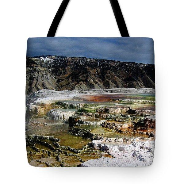 Mammoth Hot Springs Tote Bag by Robert Woodward
