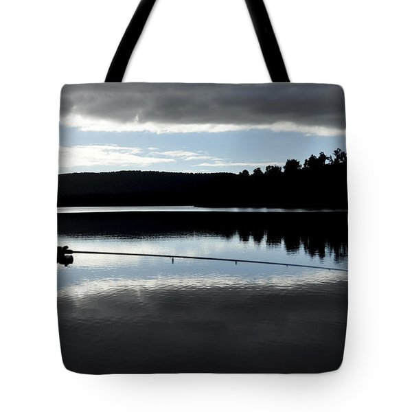 man fly fishing Tote Bag by Judith Katz