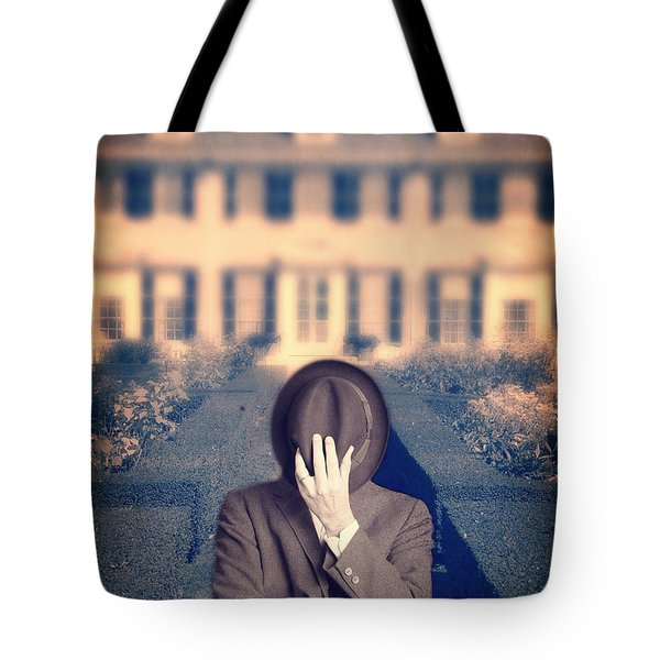 Man In Front Of Mansion  Tote Bag by Edward Fielding