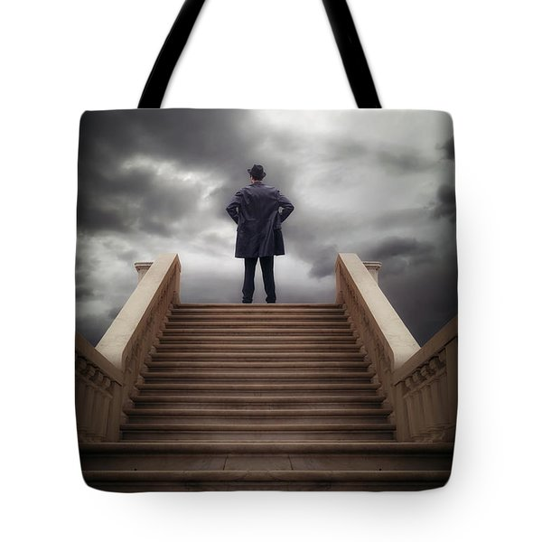 Man On Stairs Tote Bag by Joana Kruse