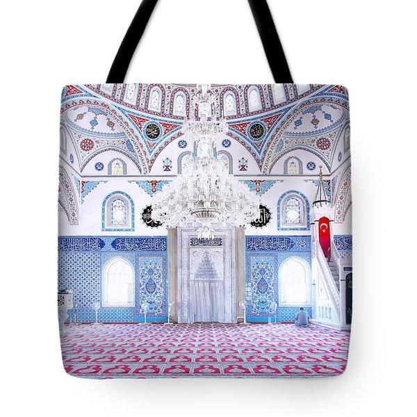 Manavgat Mosque Interior 01 Tote Bag by Antony McAulay