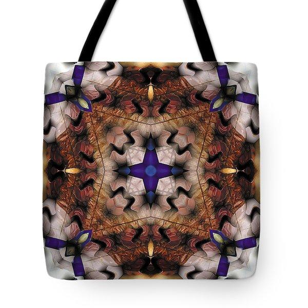 Mandala 17 Tote Bag by Terry Reynoldson