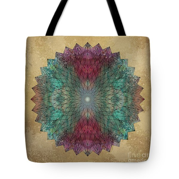 Mandala Crystal Tote Bag by Filippo B
