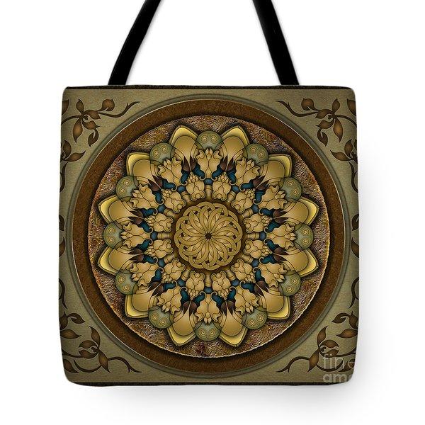 Mandala Earth Shell sp Tote Bag by Bedros Awak