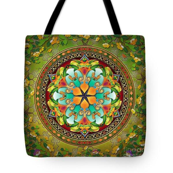 Mandala Evergreen Tote Bag by Bedros Awak