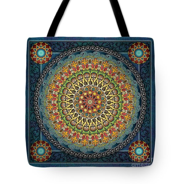 Mandala Fantasia Tote Bag by Bedros Awak