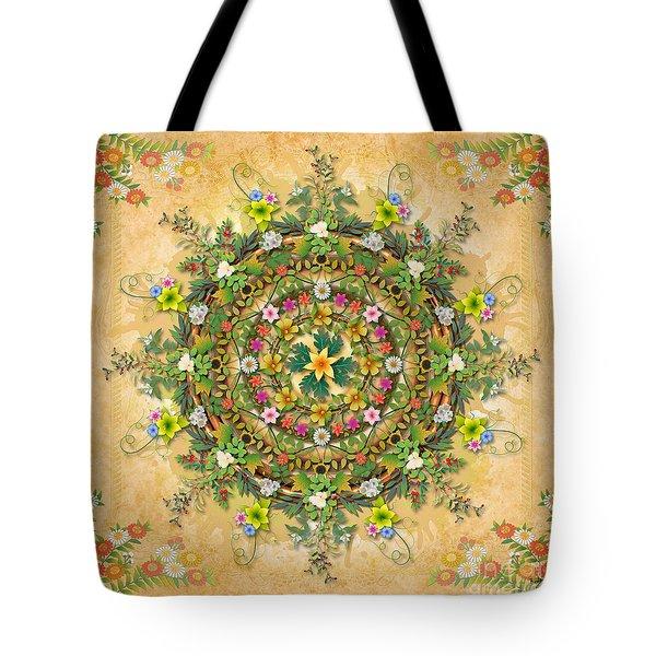 Mandala Flora Tote Bag by Bedros Awak