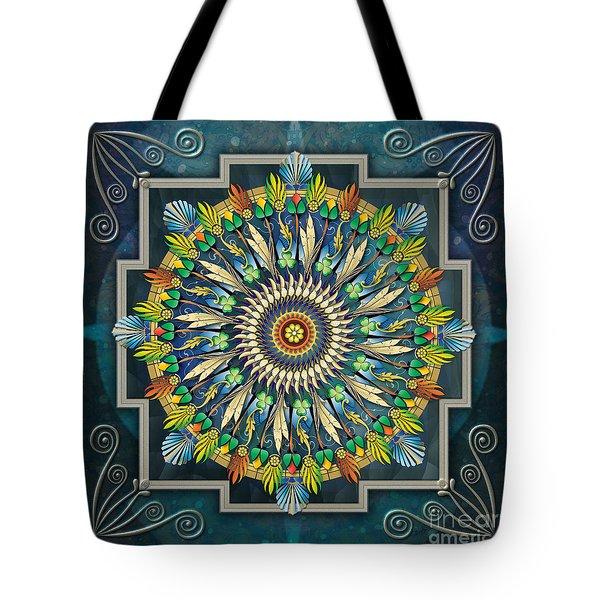 Mandala Night Wish Tote Bag by Bedros Awak