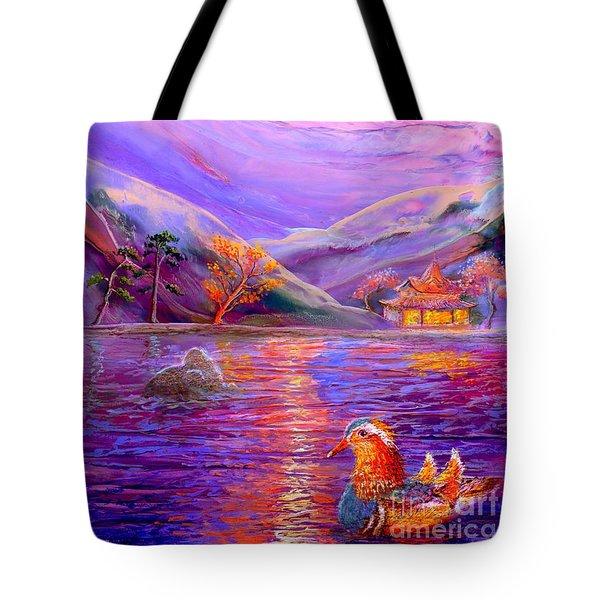 Mandarin Dream Tote Bag by Jane Small