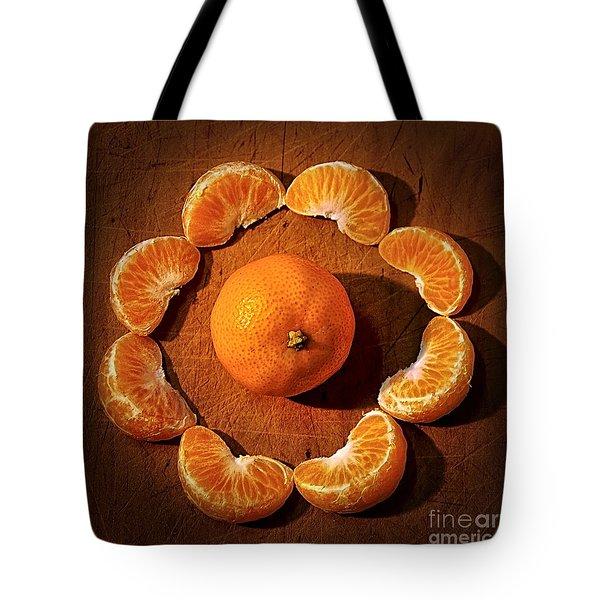 Mandarin - Vignette Tote Bag by Kaye Menner