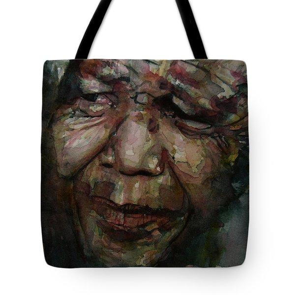 Mandela   Tote Bag by Paul Lovering