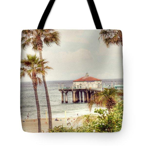 Manhattan Beach Pier Tote Bag by Juli Scalzi