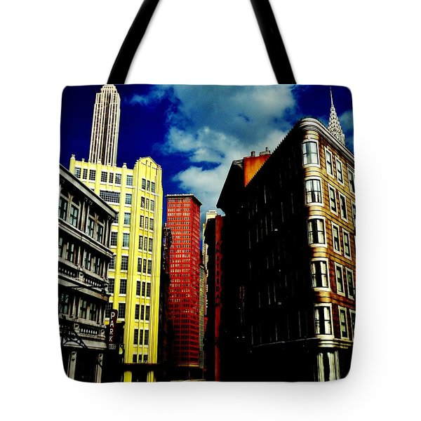 Manhattan Highlights Tote Bag by Benjamin Yeager