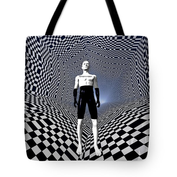 Mankinds Use Of Binary Language Tote Bag by Mark Stevenson