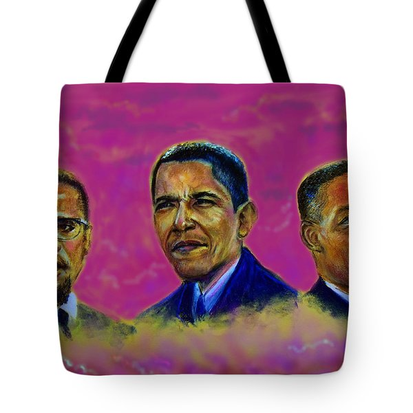 M.a.n...malcolm- Obama- Martin Tote Bag by Tommy  Winn