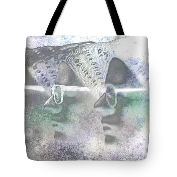 Mannequin With Glasses In Digital Art Tote Bag by Toppart Sweden