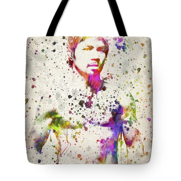 Manny Pacquiao Tote Bag by Aged Pixel