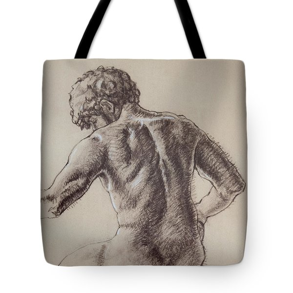 Man's Back Tote Bag by Sarah Parks