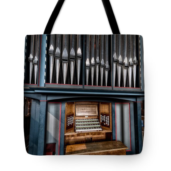 Manual Pipe Organ Tote Bag by Adrian Evans