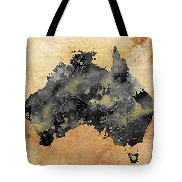 Map Of Australia Grunge Tote Bag by Daniel Hagerman