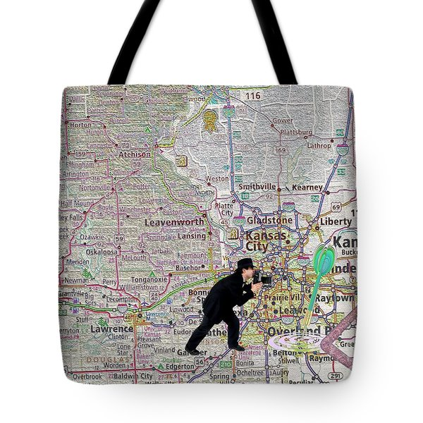 Map Overland Park Kansas Tote Bag by Liane Wright
