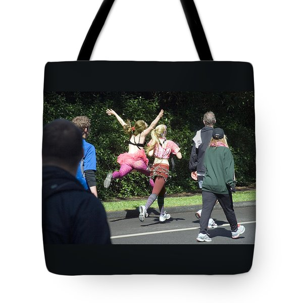 Marathon Grand Jete  Tote Bag by Daniel Furon