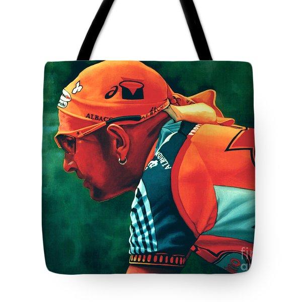 Marco Pantani 2 Tote Bag by Paul  Meijering